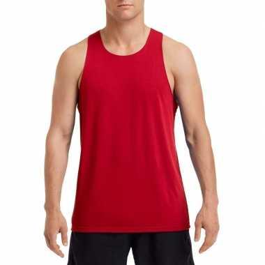 Sportkleding sneldrogend rood voor heren