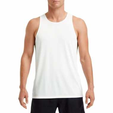 Sportkleding sneldrogend wit voor heren
