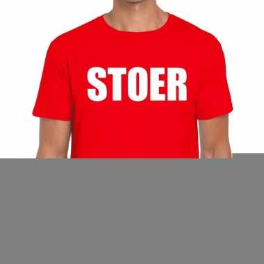 Stoer fun t-shirt rood voor heren