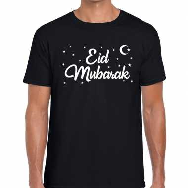 Suikerfeest shirt eid mubarak zwart voor heren