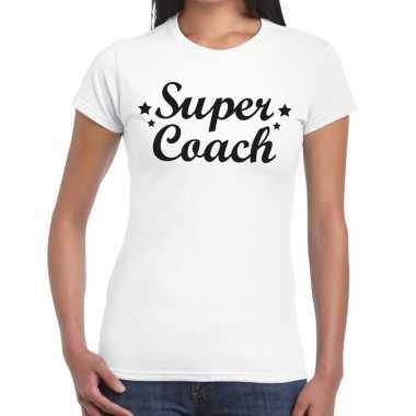 Super coach fun t-shirt wit voor voor dames - bedankt cadeau voor een