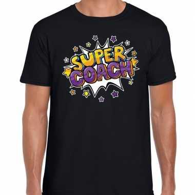 Super coach fun t-shirt zwart voor heren - bedankt cadeau voor een co