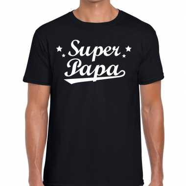 Super papa fun t-shirt zwart voor heren