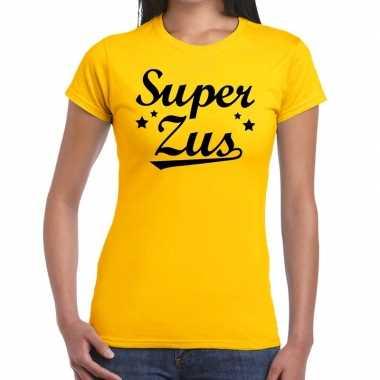 Super zus fun t-shirt geel voor dames