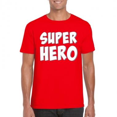 Superhero fun t-shirt rood voor heren