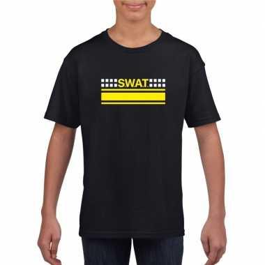 Swat arrestatieteam shirt zwart voor kinderen