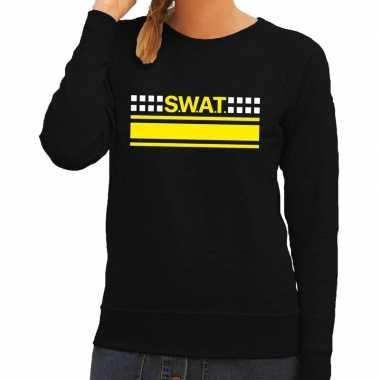 Swat arrestatieteam sweater / trui zwart voor dames