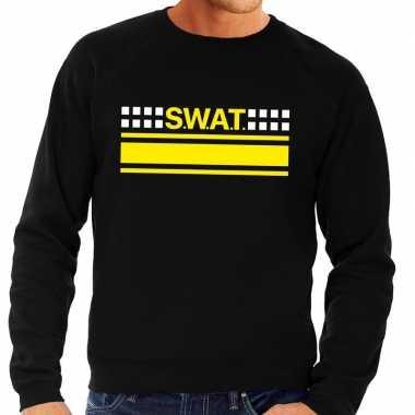 Swat arrestatieteam sweater / trui zwart voor heren