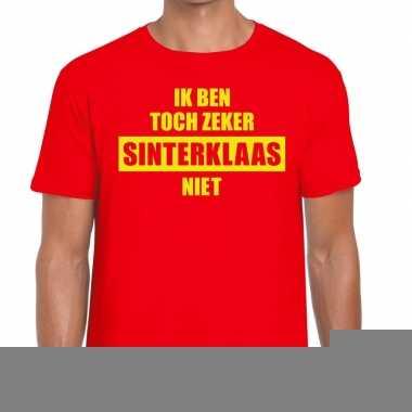 T-shirt voor mannen met tekst ik ben toch zeker sinterklaas niet