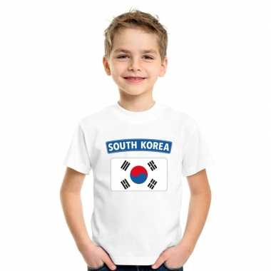 T shirt zuid koreaanse vlag wit kinderen