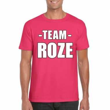 Team roze shirt heren voor sportdag