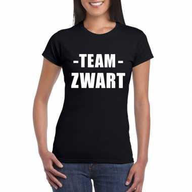 Team zwart shirt dames voor sportdag