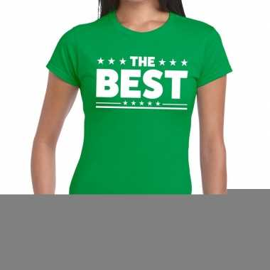 The best fun t-shirt groen voor dames