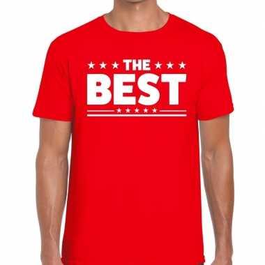 The best fun t-shirt voor heren rood
