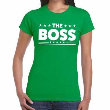 The boss fun t-shirt groen voor dames