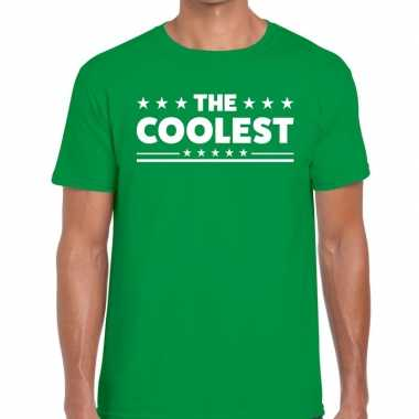 The coolest fun t-shirt groen voor heren