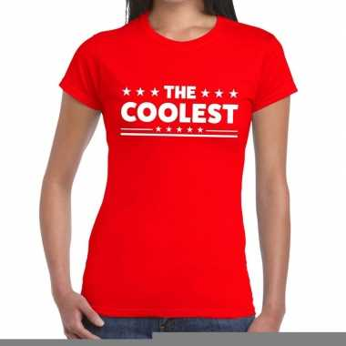 The coolest fun t-shirt rood voor dames