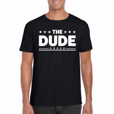 The dude fun t-shirt voor heren zwart