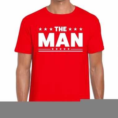 The man fun t-shirt voor heren rood