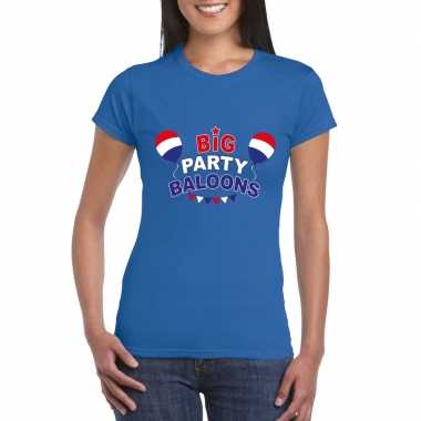 Toppers big party balloons 2019 t-shirt blauw dames