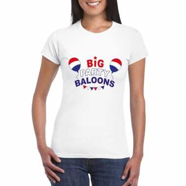 Toppers big party balloons t-shirt wit dames