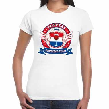 Toppers drinking team t-shirt wit dames