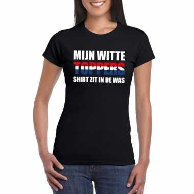 Toppers witte shirt zit in de was t-shirt zwart dames