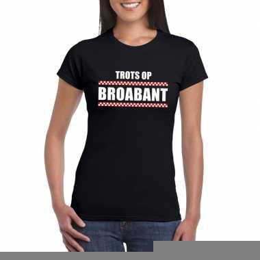 Trots op brabant fun t-shirt voor dames zwart