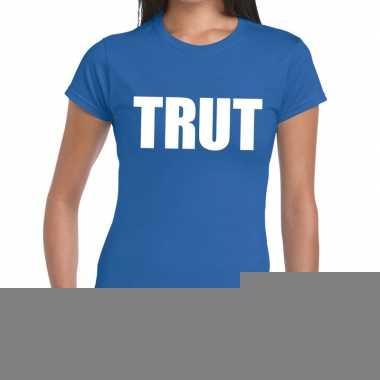 Trut fun t-shirt blauw voor dames