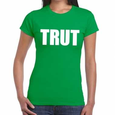 Trut fun t-shirt groen voor dames