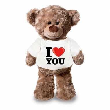 Valentijn i love you knuffelbeer 24 cm