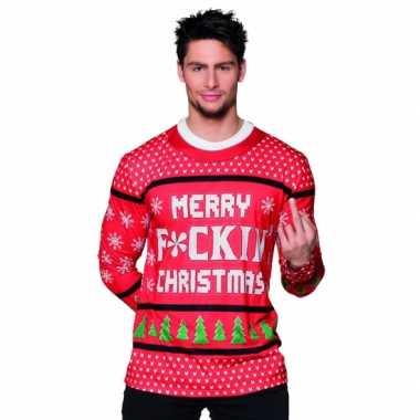 Verkleed t-shirt kerst tekst heren