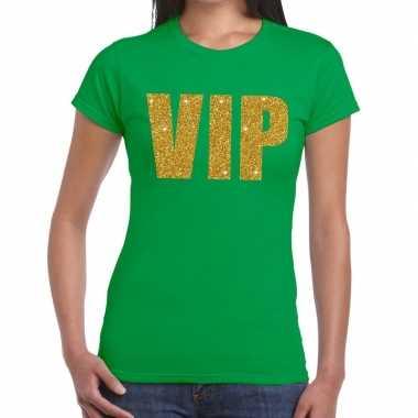 Vip fun t-shirt groen voor dames