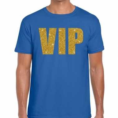 Vip fun t-shirt voor heren blauw