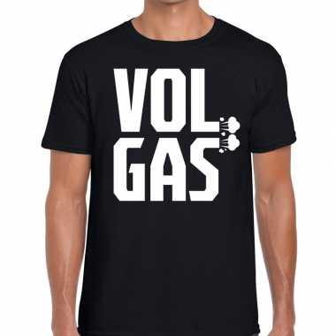 Vol gas zwarte cross t-shirt zwart voor heren