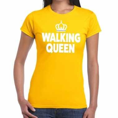 Wandel 4 daagse shirt walking queen geel voor dames