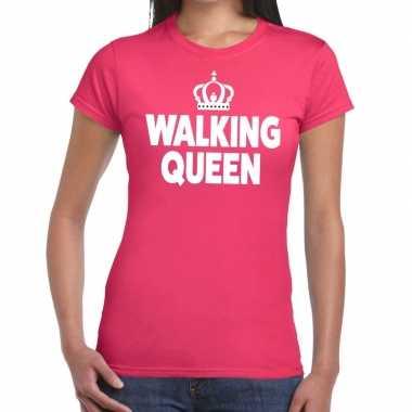 Wandel 4 daagse shirt walking queen roze voor dames