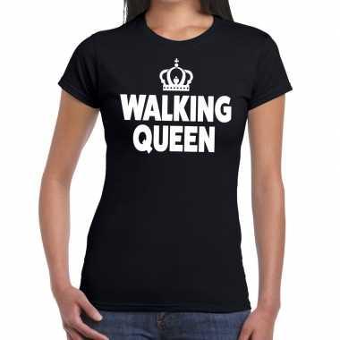 Wandel 4 daagse shirt walking queen zwart voor dames