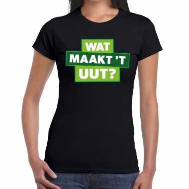 Wat maakt t uut zwarte cross t-shirt zwart voor dames
