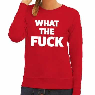 What the fuck fun sweater rood voor dames