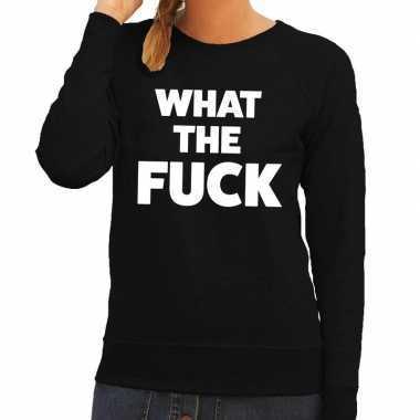 What the fuck fun sweater zwart voor dames