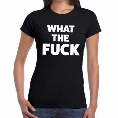 What the fuck fun t-shirt zwart voor dames