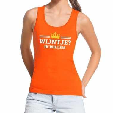 Wijntje ik willem mouwloos shirt / tanktop oranje dames