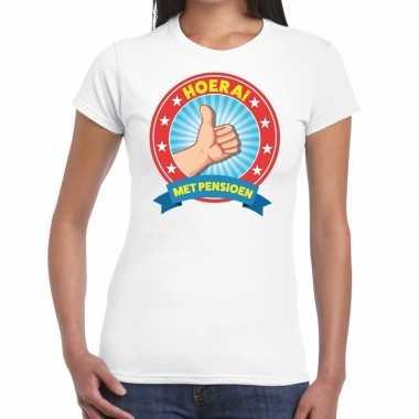 Wit gepensioneerd fun t-shirt dames