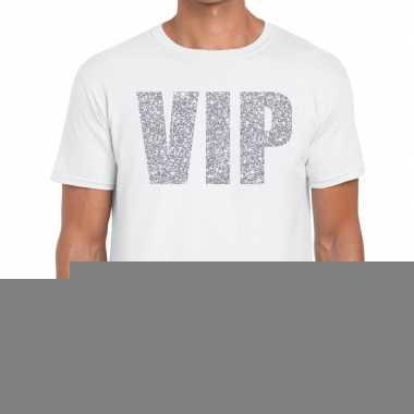 Wit vip zilver fun t-shirt voor heren