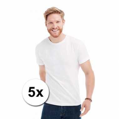 Witte heren t-shirts 5 pak