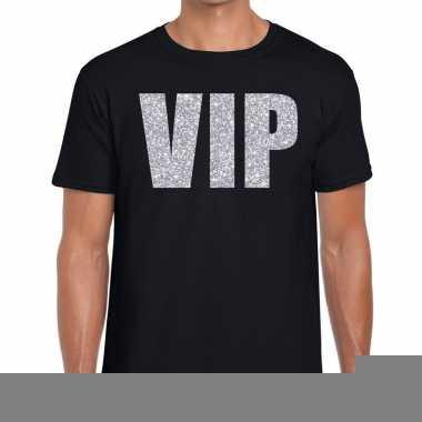 Zwart vip zilver fun t-shirt voor heren