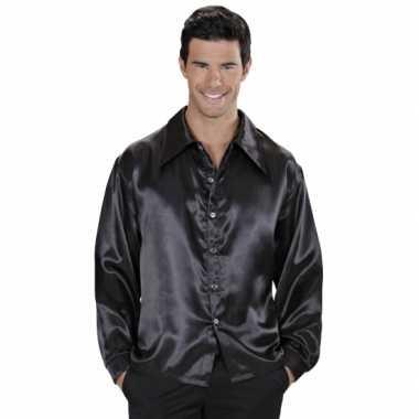 Zwarte blouse van satijn
