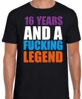 16 year cadeau verjaardag t-shirt zwart voor heren