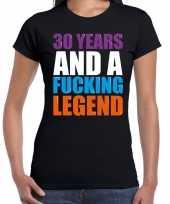 30 year cadeau verjaardag t-shirt zwart voor dames